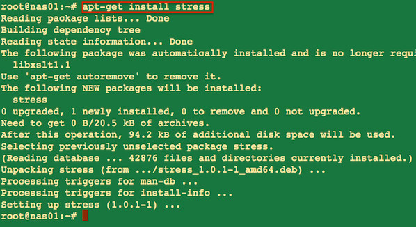 Fig.02: Install stress tool on a Debian/Ubuntu Linux
