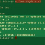 How To Update Apple OS X Using Command Line Software Update Tool
