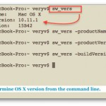 How to find out Mac OS X operating system version information from Terminal command prompt