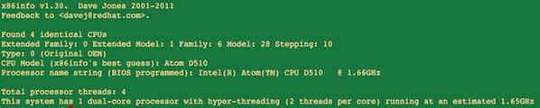 Linux x86info Command To Display-x86 CPU Diagnostics Info On Linux