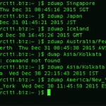How to find out zone information for given country on Linux or Unix