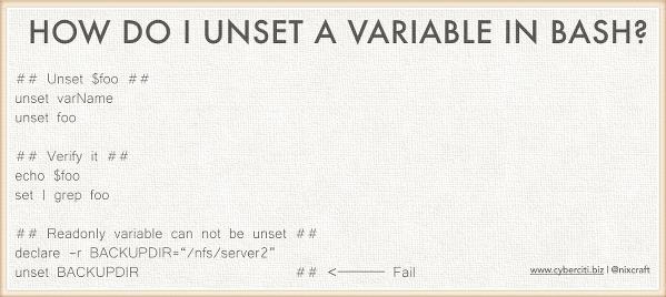 bash-unset-command