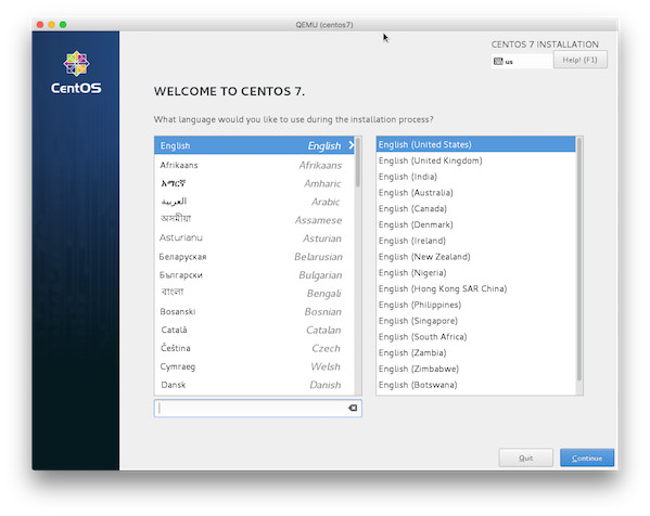 Fig.05: CentOS 7 guest vm installation