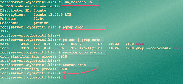 Fig.01: Is cron service running on Debian or Ubuntu Linux?
