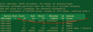 Fig.03: Linux use sfdisk command show boot device name