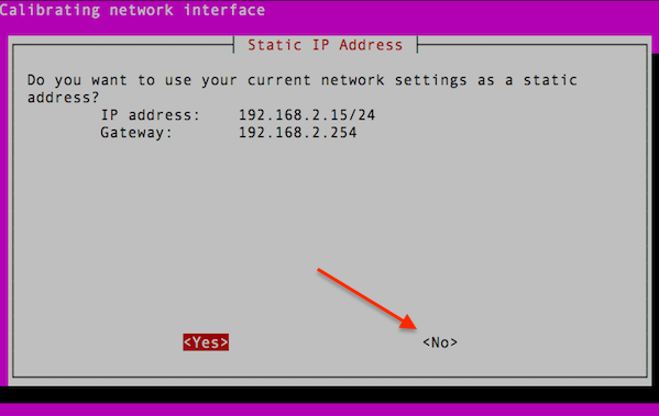 Fig.05: You must set a static IP address and it must match to tun0/OpenVPNs static IP address