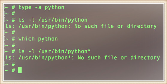 Fig.01: Python command not found