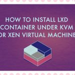 How to install LXD container under KVM or Xen virtual machine