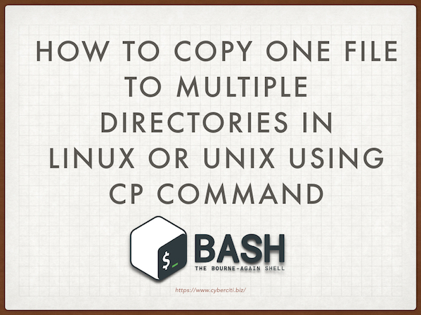 Copying one file to multiple directories