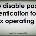 How to disable ssh password login on Linux to increase security