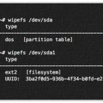 How to wipe a signature from a disk device on Linux with wipefs command