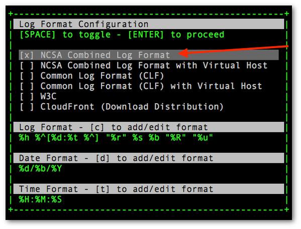 Fig.02: Set the log-format for your log file