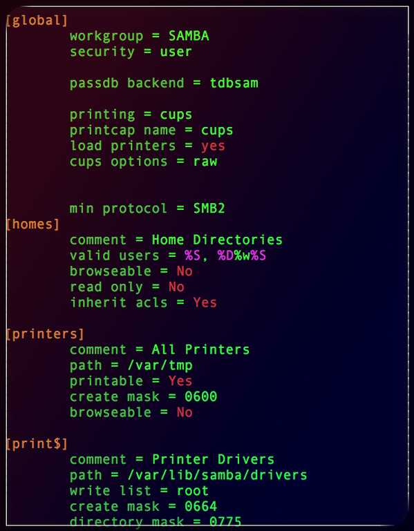 Fig.01: How to force SMB2 protocol in samba on Linux or Unix