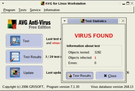 Free AVG 7.1 anti-virus for Linux