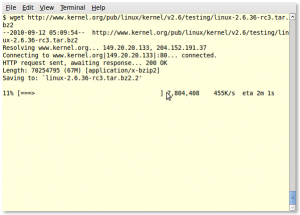 Fig.01: wget example