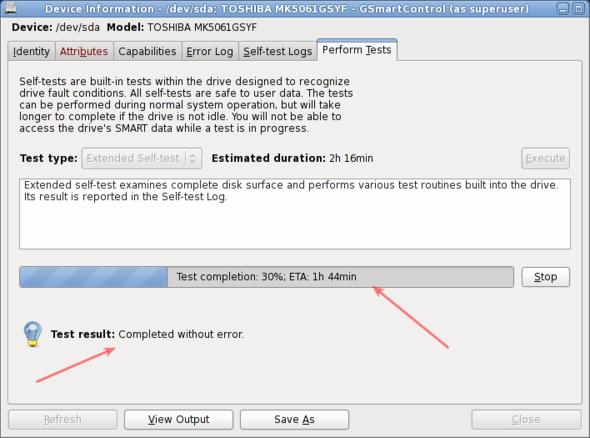 Fig.08: Hard disk test is in progress