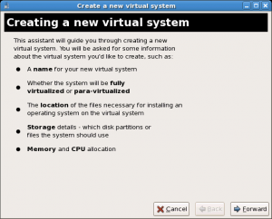 CentOS XEN Virtual machine manager