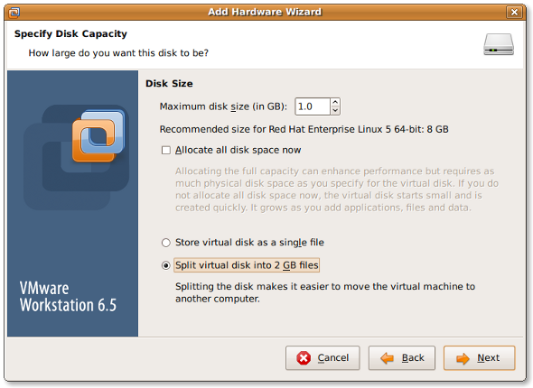 Fig.05: Vmware Virtual Disk