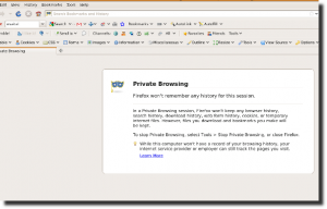 Fig.01: Firefox 3.5 Running In a Private Browsing Mode