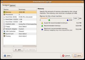 Fig.01: Vmware Virtual Machine Settings