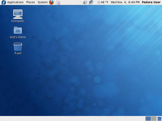 Fig.01: Fedora 12 Desktop
