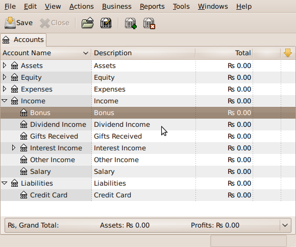 Fig.08: GnuCash is used for financial management / accounting