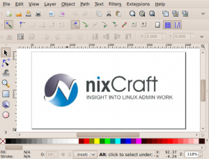 Fig.01: Inkscape is used by artist/illustrator/designer as vector graphics editor