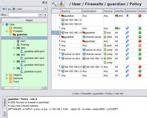 Fig.01: Firewall Builder v4.0 in Action