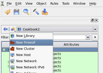 Figure 4. Creating first member firewall object