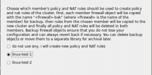Figure 15. Cluster will inherit rules of one of the member firewalls