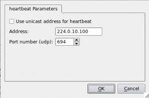 Figure 18. Parameters of heartbeat protocol