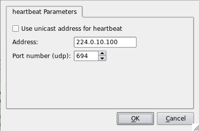Figure 18. Parameters of heartbeat protocol