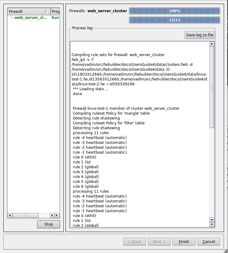Figure 22. Compiling process progress window