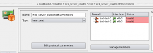 Figure 27. Failover group indicates that the cluster configuration does not match members