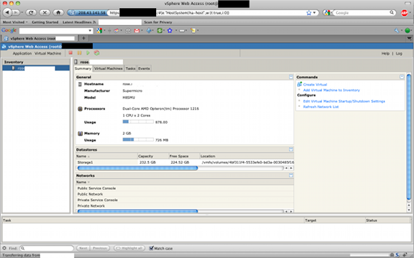 Fig.02: vSphere Web Access in Action