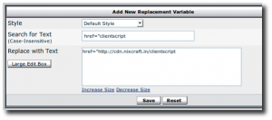 Fig.02: Vbulletin Adding Replacement Variable For CDN