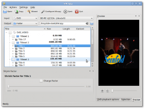 Fig.05: k9copy - Linux dvd shrink in action