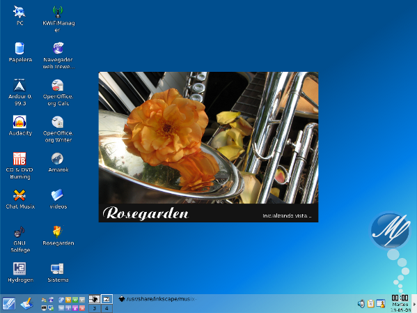 Fig.04: Musix GNU/Linux Desktop
