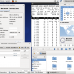 Fig.06: CentOS Linux Version 6 With Various Windows