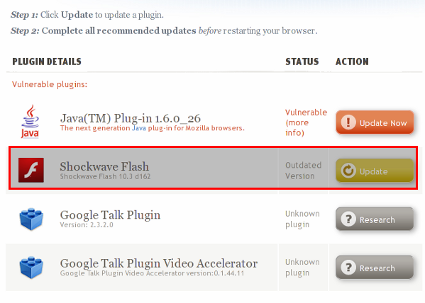 Firefox Update Flash Plugin