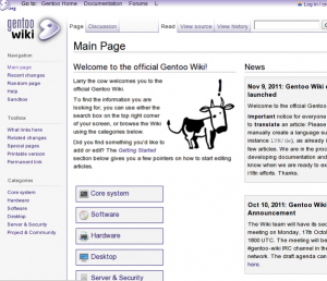 Gentoo Linux Handbook and Wiki