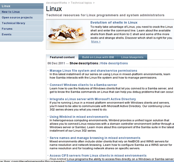IBM: Technical for Linux programmers and system administrators